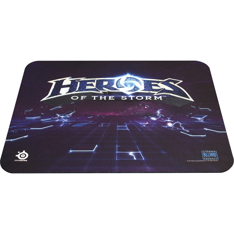 SteelSeries QcK+ Heroes of the Storm Gaming Muismat - Blauw - Logo Edition (PC + MAC)
