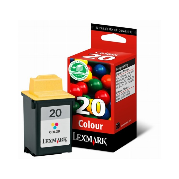 Image of 20 Inktcartridge Drie Kleuren Standard Capacity, 24.2ml 475 Paginas 1-pack