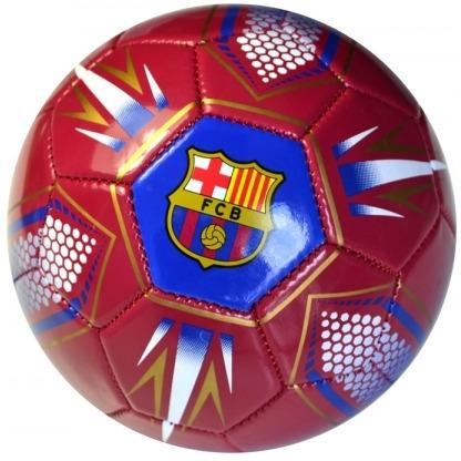 Image of Bal Barcelona Leer Middel Rood Flas