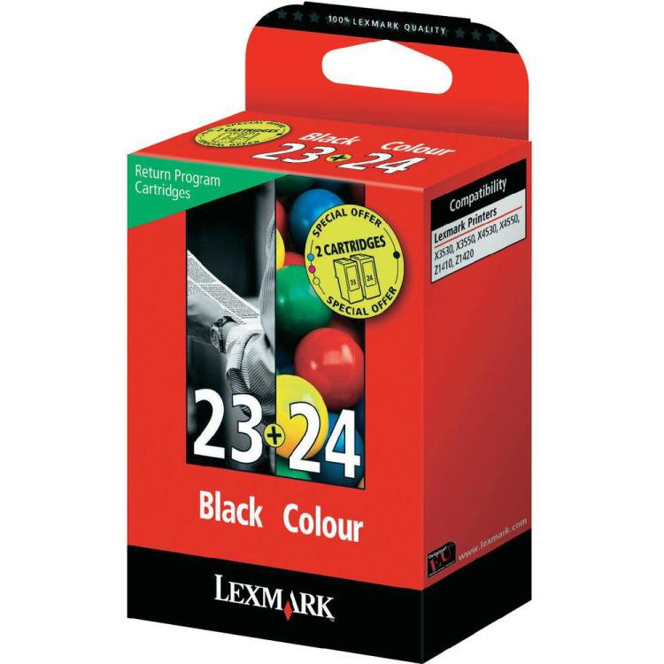 Image of 23/24 Inktcartridges Zwart En Kleur Standard Capacity, 2-pack