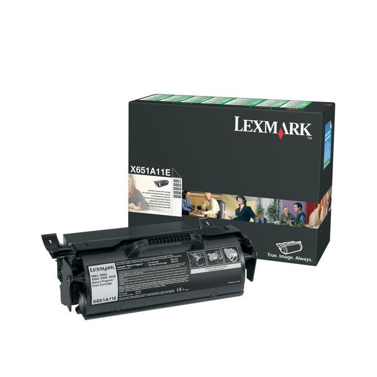 X651/ X652/ X654/ X656/ X658/ toner cartridge black 7.000 pages return program