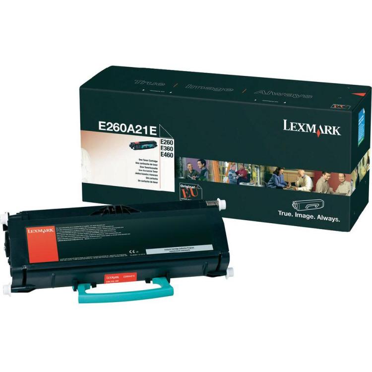 Lexmark E260A31E -Tonercartridge Zwart