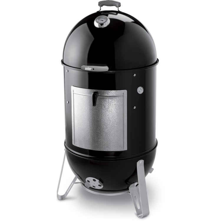 Klein elektronisch Weber Smokey Mountain Cooker Rookbarbecue
