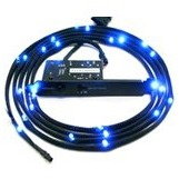 Sleeved blauwe LED Kit, 2 meter