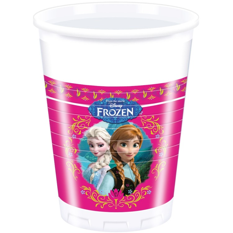 Image of 8 Plastik Becher Frozen 200ml