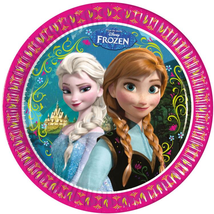 Image of 8 Kartonteller Frozen 23cm