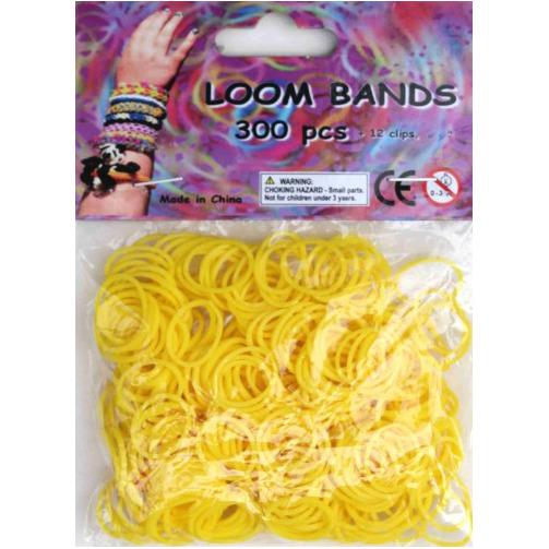 Bandjes Loom Bands 300 stuks: geel (37115)