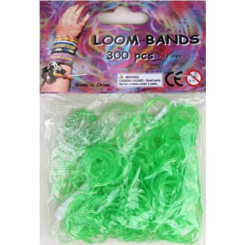 Bandjes Loom Bands 300 stuks: gel lime groen (37124)