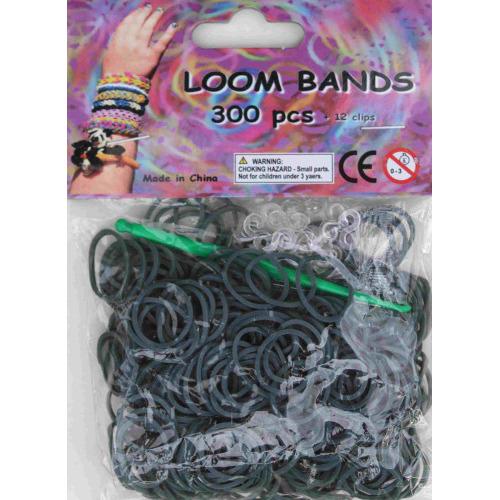 Bandjes Loom Bands 300 stuks: grijs (37119)