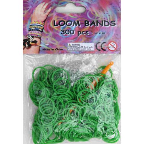 Bandjes Loom Bands 300 stuks: lime groen (37123)