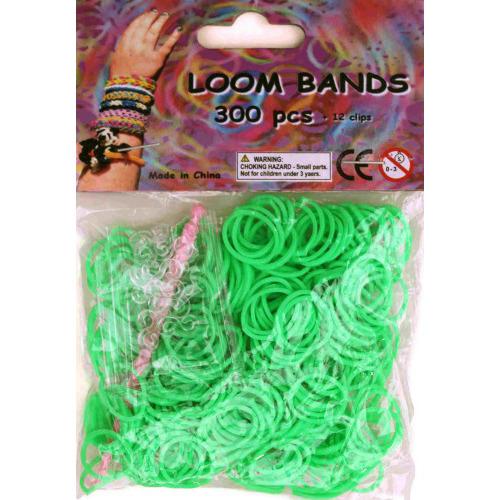 Bandjes Loom Bands 300 stuks: neon groen