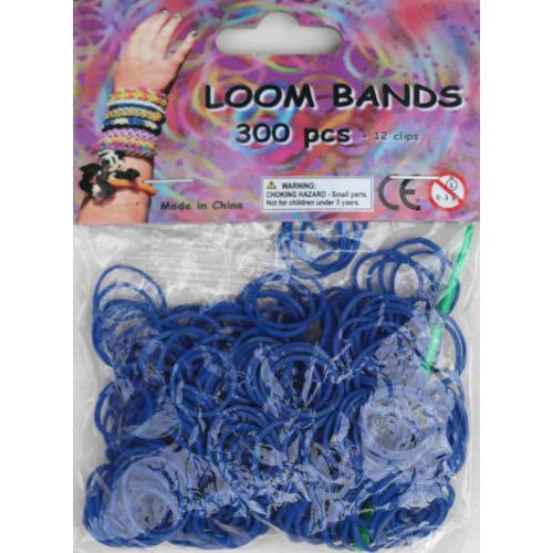 Bandjes Loom Bands 300 stuks: oceaan blauw (37127)