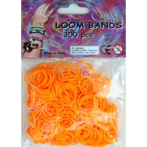 Bandjes Loom Bands 300 stuks: oranje (37129)