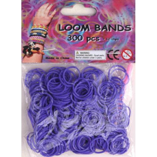 Bandjes Loom Bands 300 stuks: paars (37133)