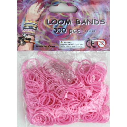 Bandjes Loom Bands 300 stuks: roze (37139)