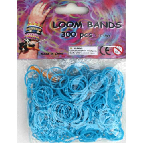Bandjes Loom Bands 300 stuks: turquoise (37143)