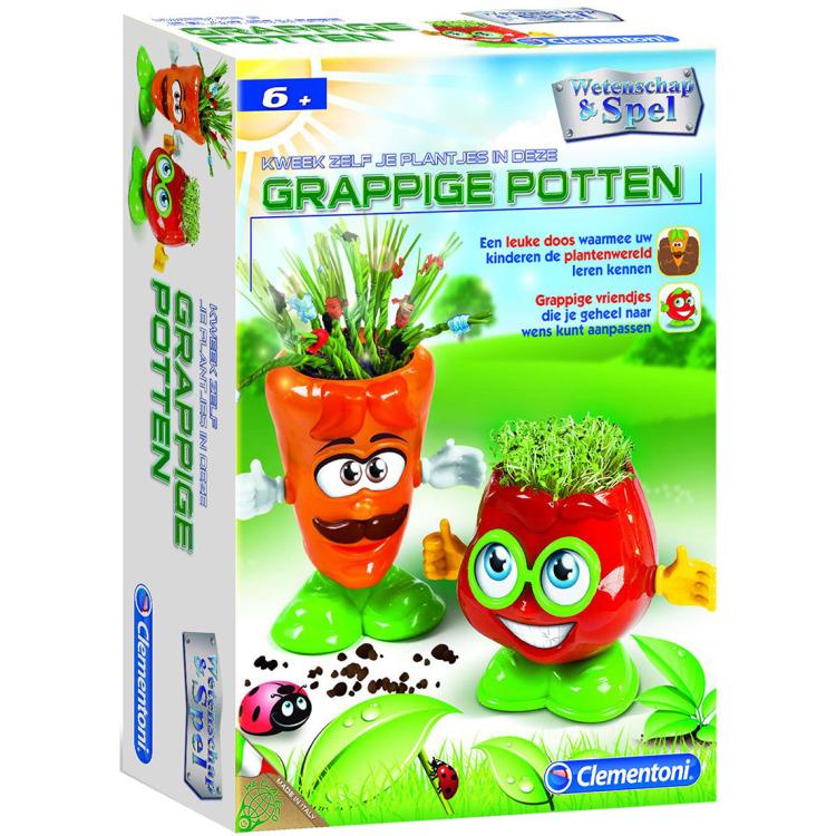 Image of Clementoni Kweek zelf je plant in deze grappige potten
