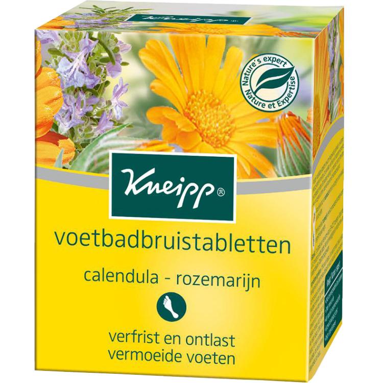Image of Voetbadbruistabletten Calendula-Rozemarijn, 6 Stuks
