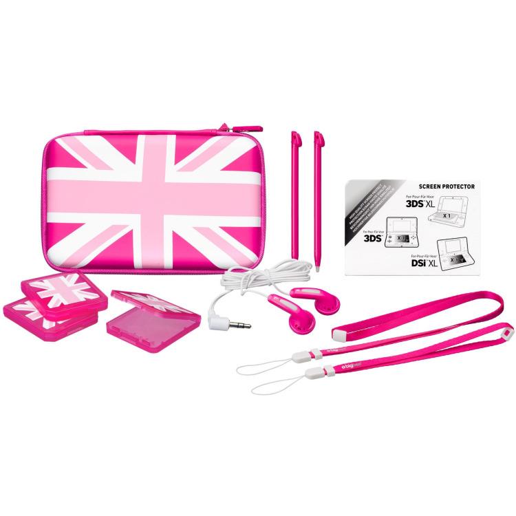 Image of Big Ben Accessoirepakket 3 UK Pink Edition voor 3DS XL