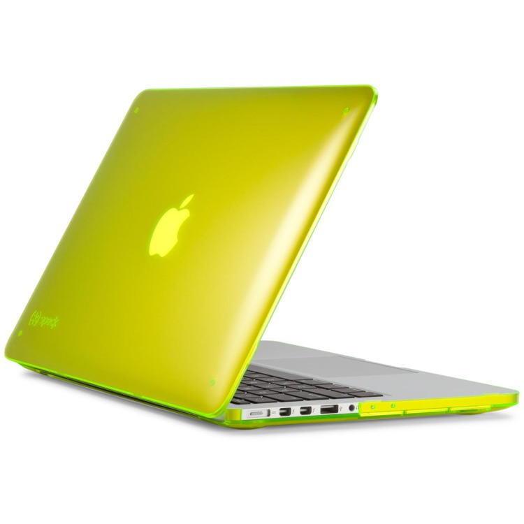 Speck SeeThru Cover voor MacBook Pro met Retina display - Laptop Sleeve / 13 inch / Geel