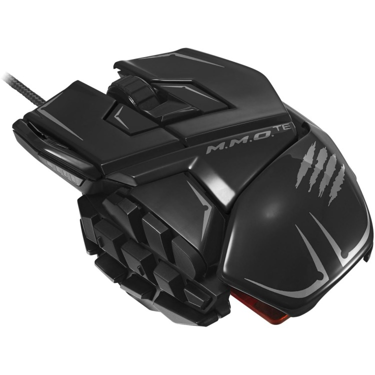 Madcatz M.M.O. TE Gaming Muis - Glans Zwart (PC)
