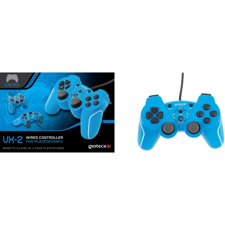 Image of Gioteck VX-2 Wired Controller (Blue)