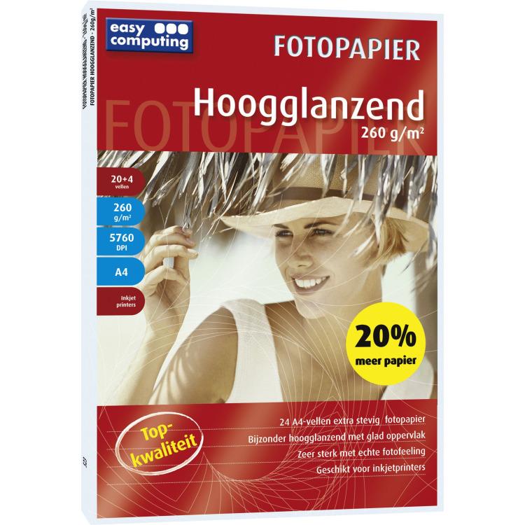 Fotopapier, Hoogglanzend, 260 gram (Papier)