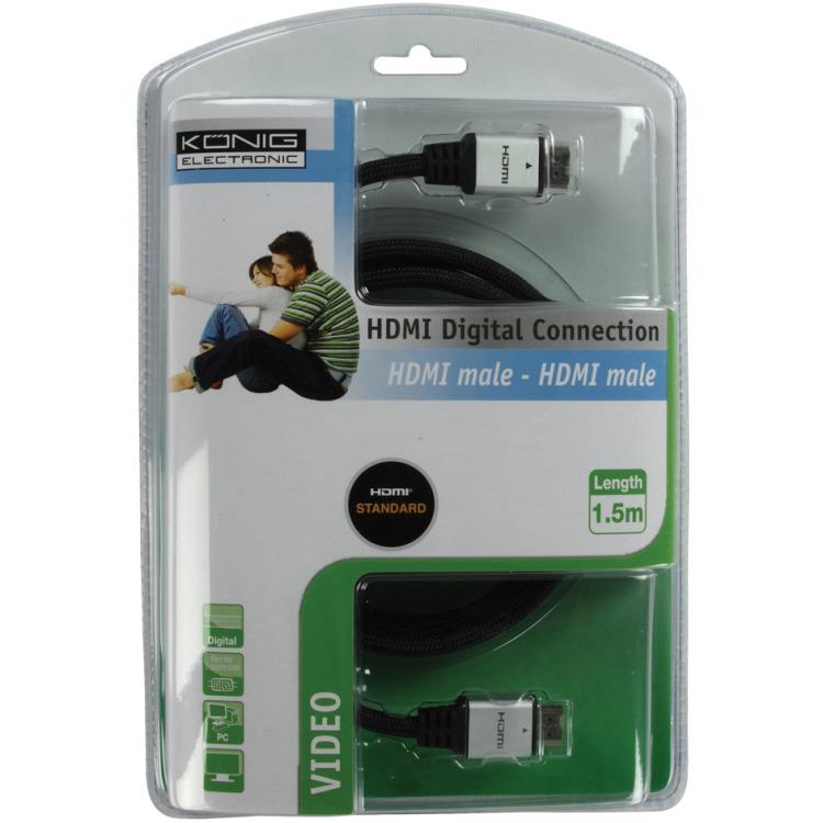 Konig - High Speed HDMI kabel - 1.5 meter