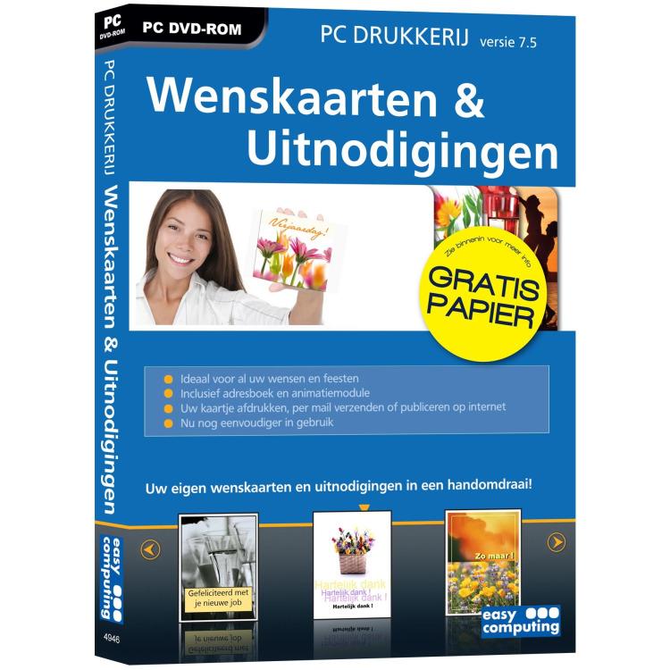 PC Drukkerij 7.5 Wenskaarten