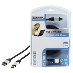 König, Usb 3.0 Kalel, Usb A Male - Usb A Female, 1.8m