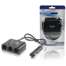 HQ, 3-Voudige Autoverdeelstekker 12v + USB