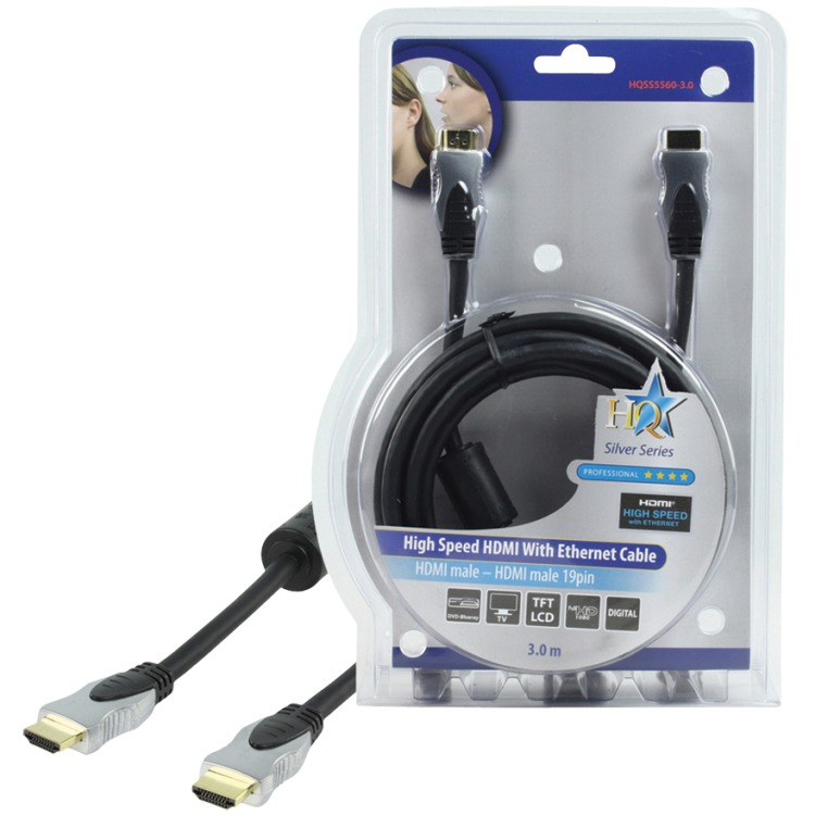 HQ High Speed HDMI Kabel met Ethernet - 3m