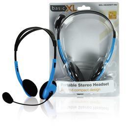 Basic XL BXL-HEADSET1 - Stereo Headset - Blauw