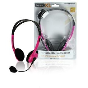 Basic XL BXL-HEADSET1 - Stereo Headset - Roze