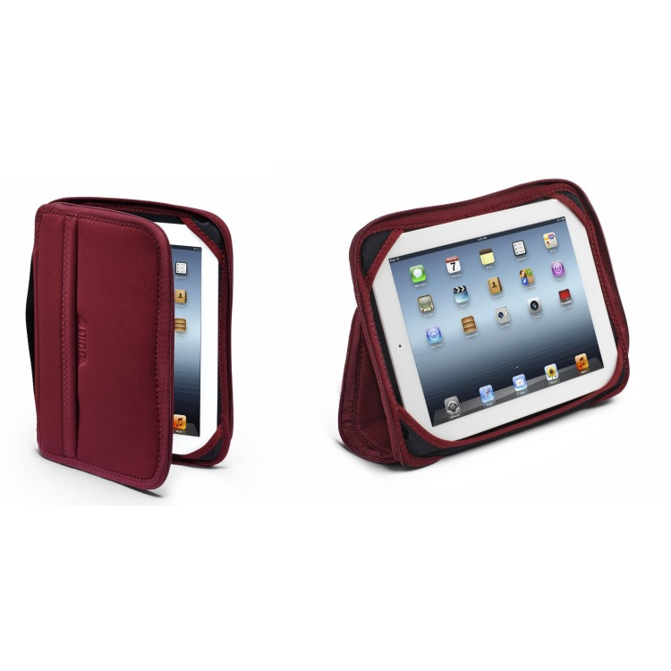 iPad foliohoes bordeaux zwart