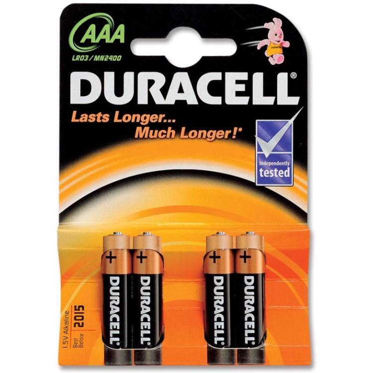 Duracell Batterijen AAA Plus Power Duralock LR03 4 Stuks