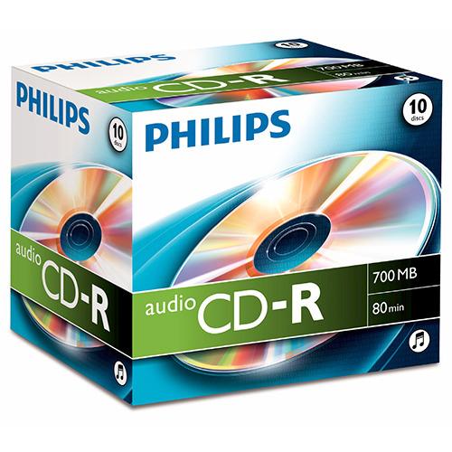 Philips CD-R 80 minuten/700 MB, audio CD