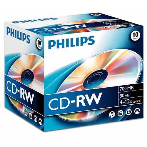 CD RW 80 10pcs. Jewelcase
