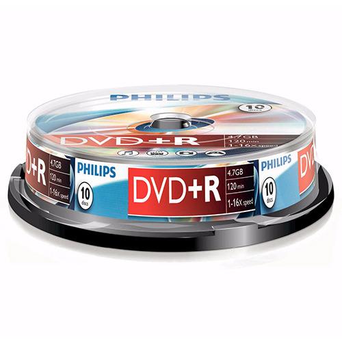 Philips DVD+R 4.7 GB overschrijfbare DVD