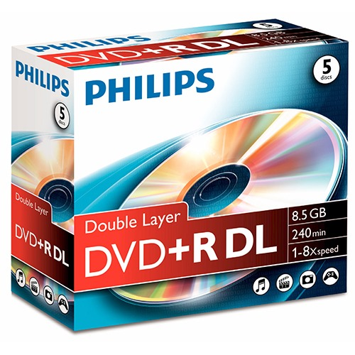 PHILIPS DVD+R 8X 5P.JC dl
