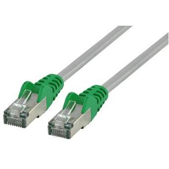 FTP CAT 6 cross netwerk kabel 20,0 m grijs/groen