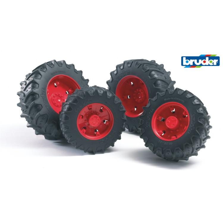 Image of Bruder - dubbele banden, rood