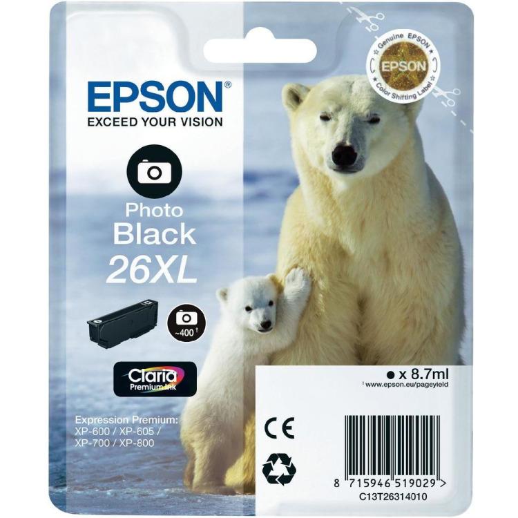 Epson 26XL - Inktcartridge / Foto Zwart / Hoge Capaciteit