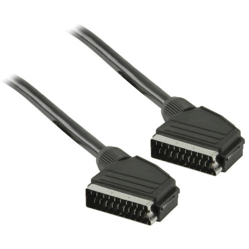 SCART kabel SCART mannelijk SCART mannelijk 0,50 m zwart