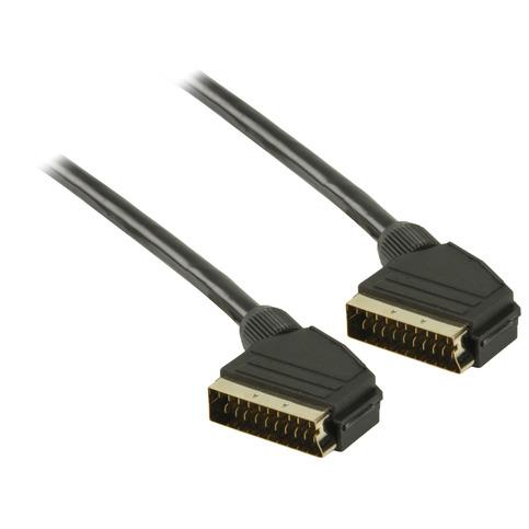 SCART kabel SCART mannelijk SCART mannelijk 1,00 m zwart