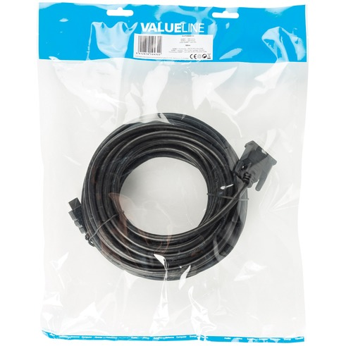 HDMI DVI kabel HDMI Connector DVI-D 24+1-pin male 10,0 m zwart