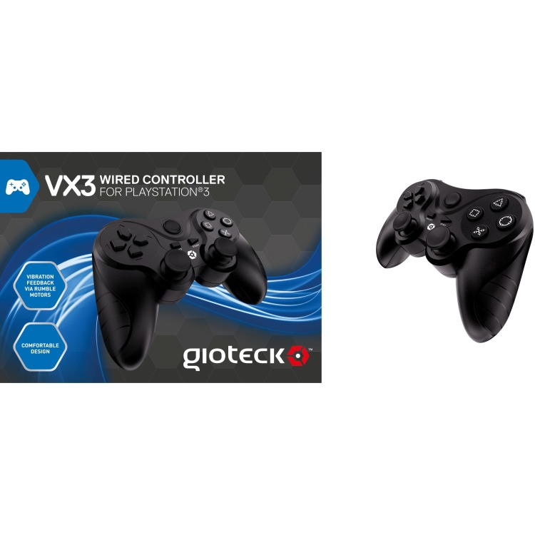 Gioteck VX-3 Wired Controller - Zwart (PS3)