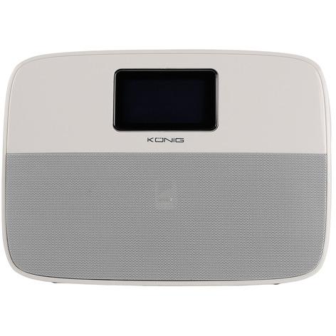 König HAV-BTAL100 Draagbare MP3 Bluetooth Wekkerradio