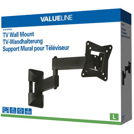 Valueline VLM-SFM30 TV-Wandbefestigung mit voller Beweglichkeit 10-26 (25-66 cm), max. 15 kg