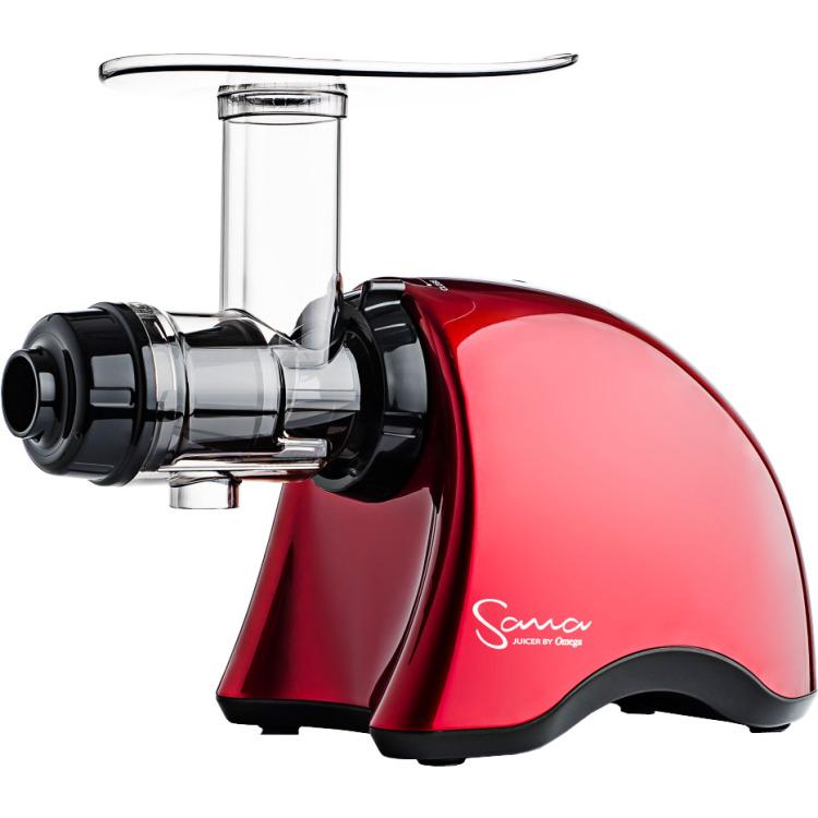 Sana Juicer by Omega Sana Horizontal Slowjuicer 70 RPM EUJ-707 Rood 1 exemplaar
